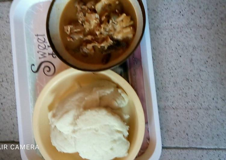 How to Make Perfect Nsala soup with pounded yam