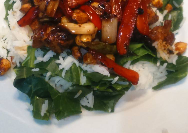 Chinese chicken with peanuts, for 2