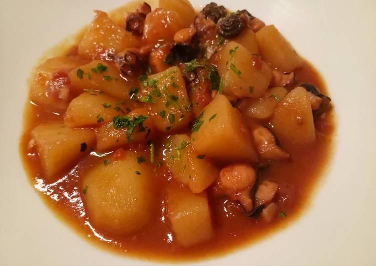 Recipe of Super Quick Homemade Polpo e patate