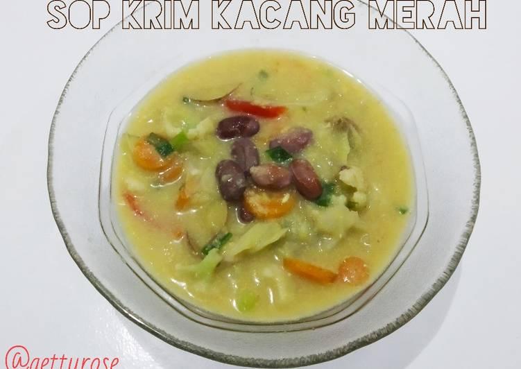 Sop Krim Kacang Merah