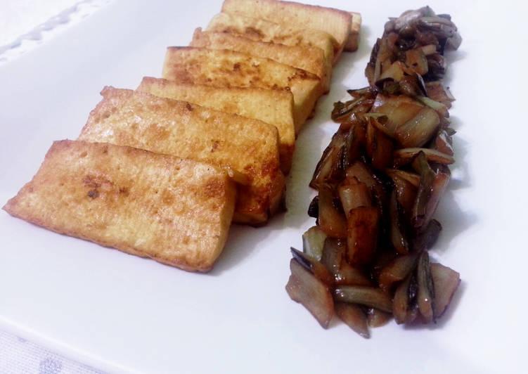 Ricetta Tofu marinato e radicchio di Treviso saltato (gluten free)