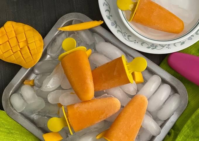 Recipe of Quick Mango Popsicles