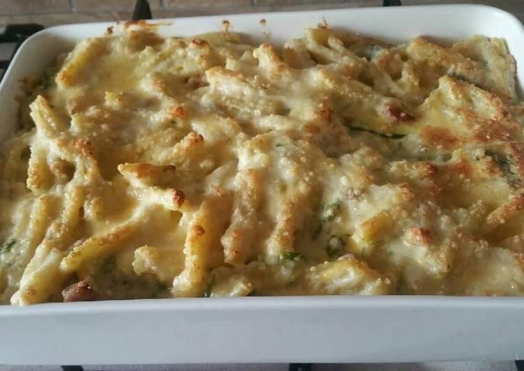 Ricetta Caserecce al forno con asparagi e pancetta