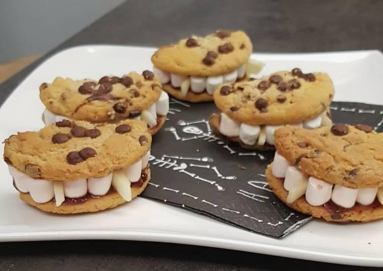 Recette Délicieuse °Dentier croquant aux cookies et Chamallows °