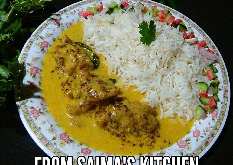 Karri pakora with rice #cookpadapp - Laurie G Edwards