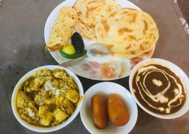 Absolutely Ultimate Dinner Ideas Royal Dal Makhani,paneer -butter masala,tandoori parathas