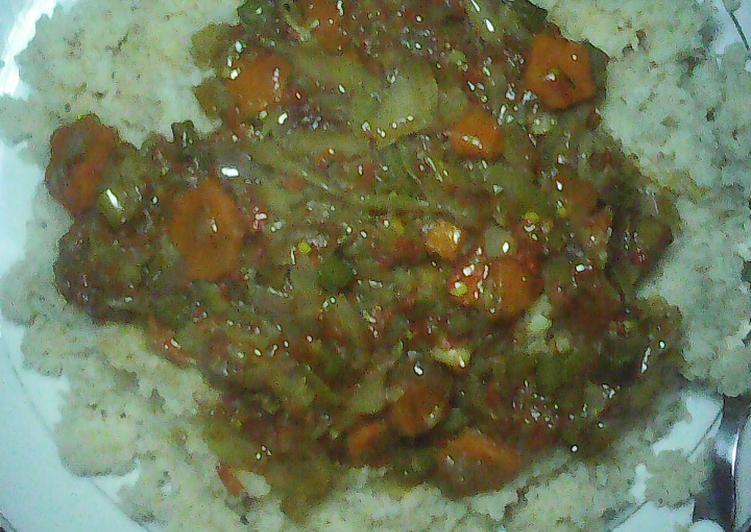 Couscous with vegetables soup