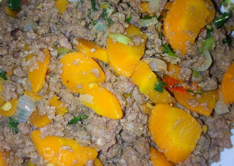 Spiced minced meat