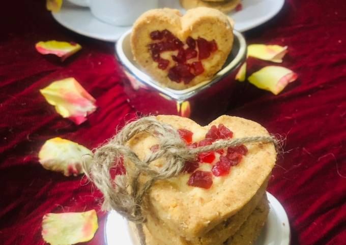 How to Make Perfect Coconut heart cookies recipe in English