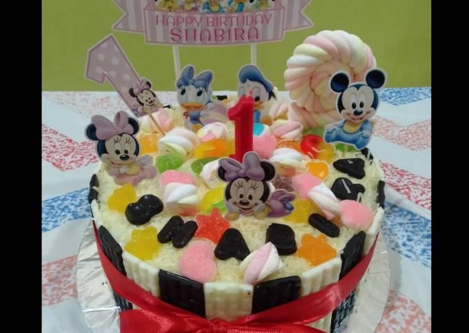 Blackforest Birthday Cake (Base cake DCC Blackforest Panggang)