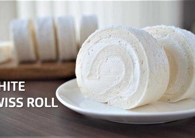 White Swiss Roll (Snow Cake Roll)
