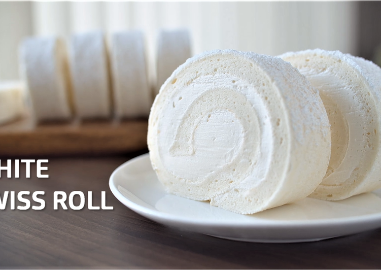 White Swiss Roll (Snow Cake Roll) ★Recipe Video
