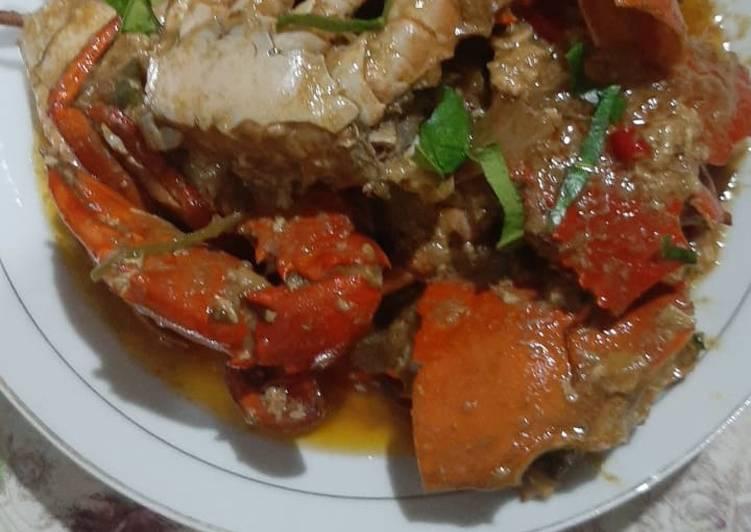 🦀 kepiting saos asam manis Padang manis ala restoran