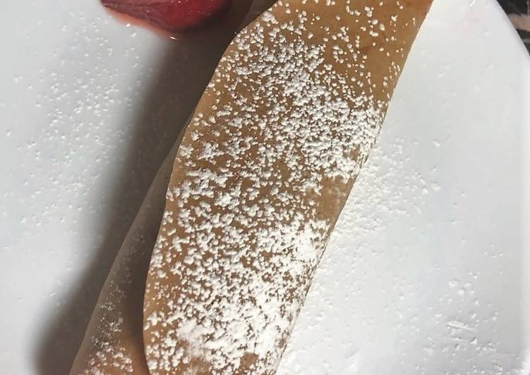 Recipe of Favorite Chocolate-Almond Crepes with Strawberry Filling