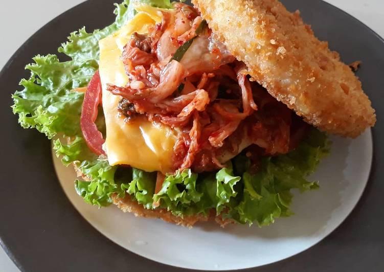 Resep Burger Nasi Krispi , Enak