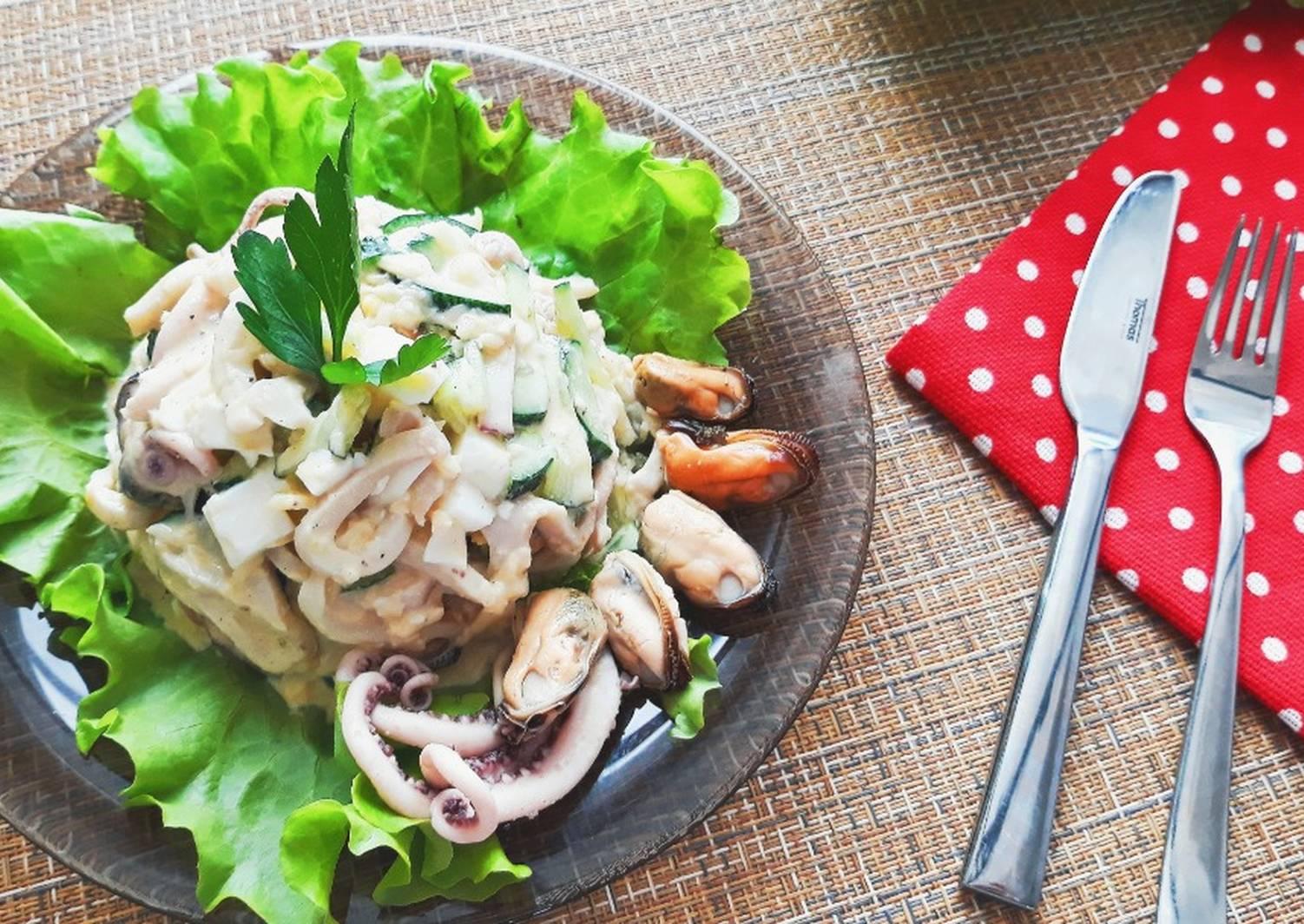 подобрала достаточно салат из морского ассорти рецепт с фото то