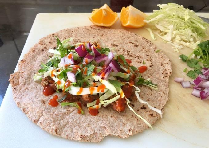 Easy Vegetarian Unfolded Burrito
