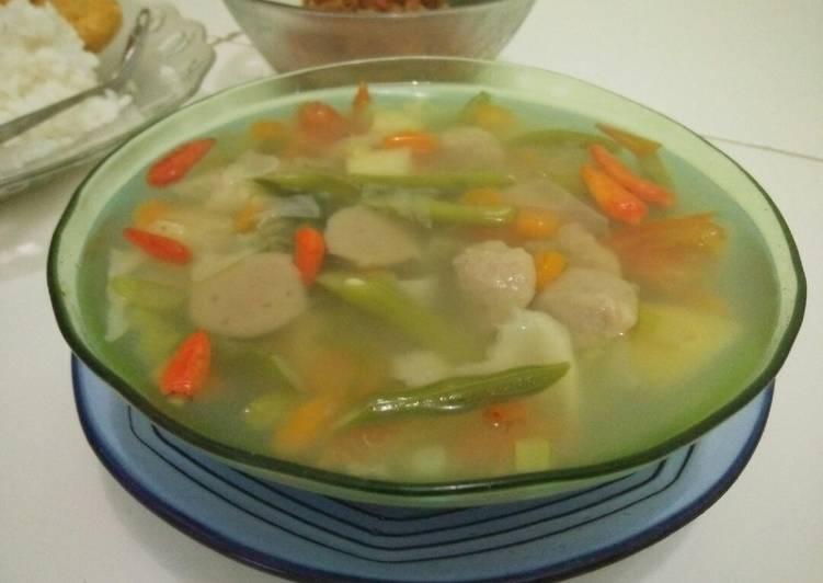 Resep Sayur Sop Bakso Yang Populer Bikin Nagih