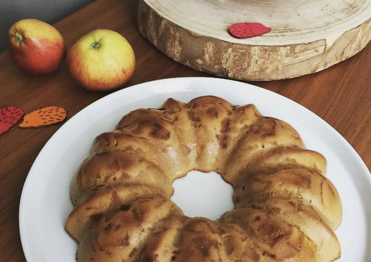 Far aux pommes caramélisées et lait ribot