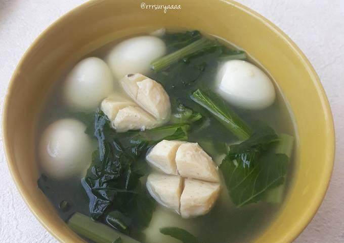 Sup Sawi Baso Ayam Telur Puyuh