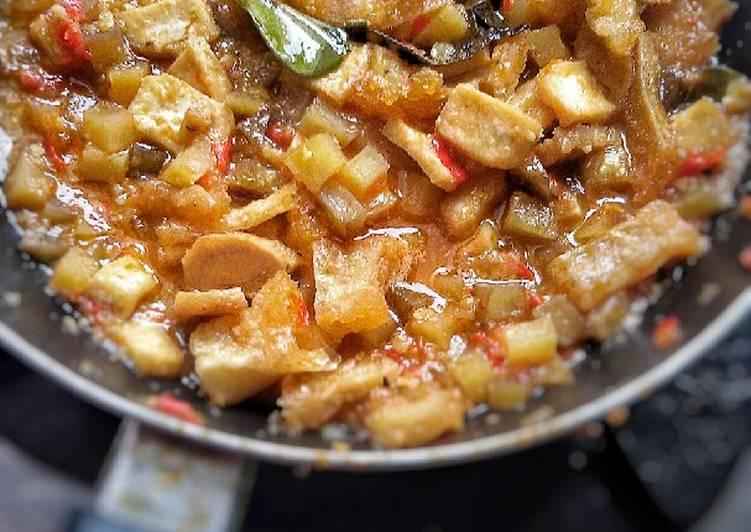Sambel Goreng kentang, Tahu & Krecek