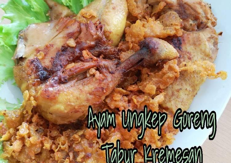 Ayam ungkep goreng tabur kremesan