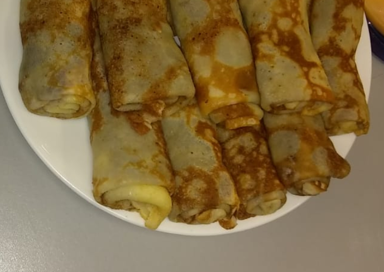 Egg Crepe Jam Roll