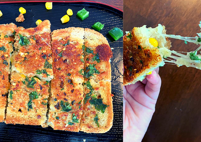 Recipe: Appetizing Cheesy Garlic Bread in 10 minute   Garlic Bread   Instant Recipe
