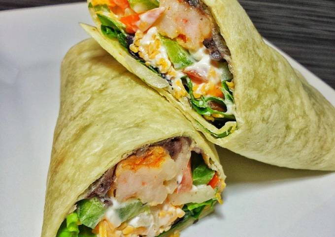 Spicy Shrimp Burritos