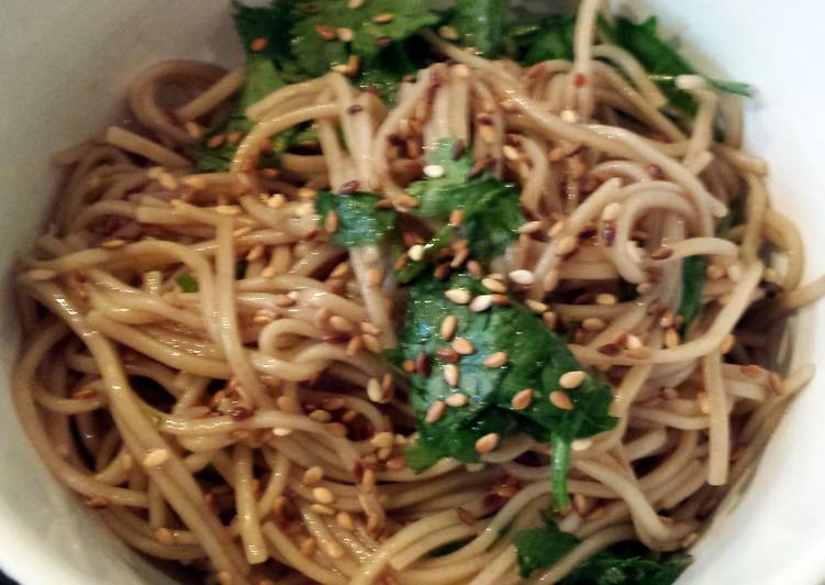 Hot and cold soba noodles