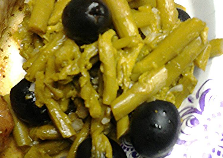 Asparagus and ripe olive