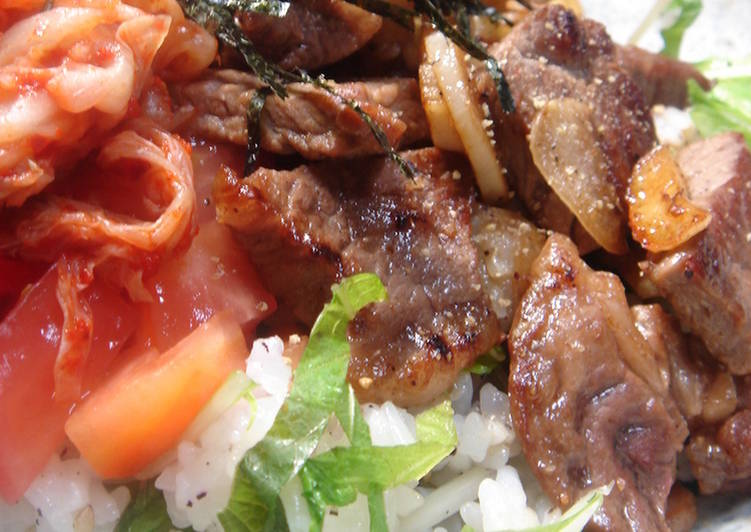 Easy Homemade Caf̩ Lunch at Home: Steak Rice Bowl Recipe