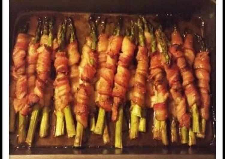 Recipe: Delicious Bacon-Wrapped Asparagus