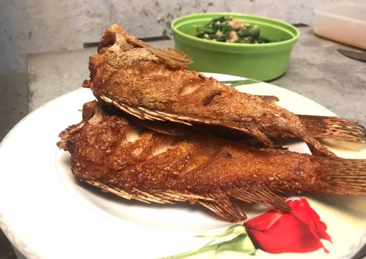 Resep Ikan kerapu goreng garing