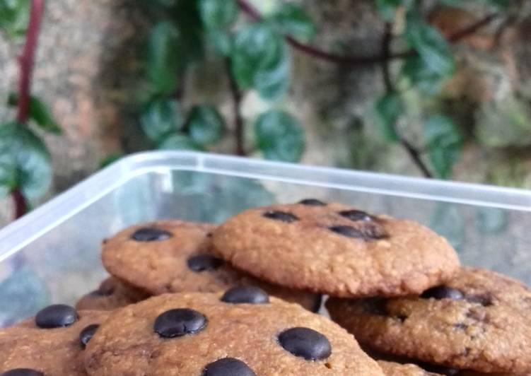 Pumpkin Oat Chocolate Cookies (Teflon)