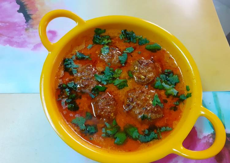 Recipe of Speedy Lauki kofta In lehsuni gravy