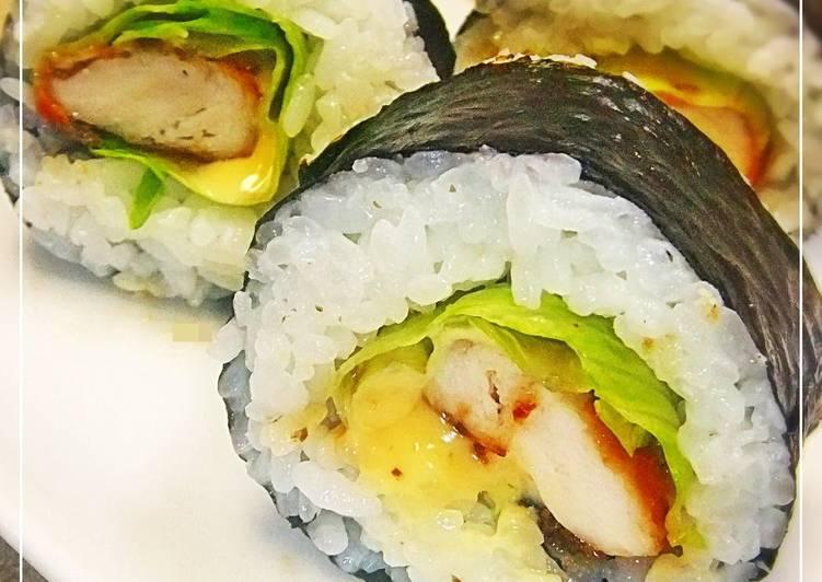 Chicken Tender Teriyaki Sushi Rolls