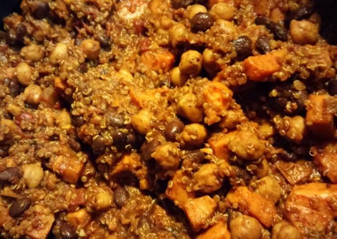 Sweet Potato and quinoa chili