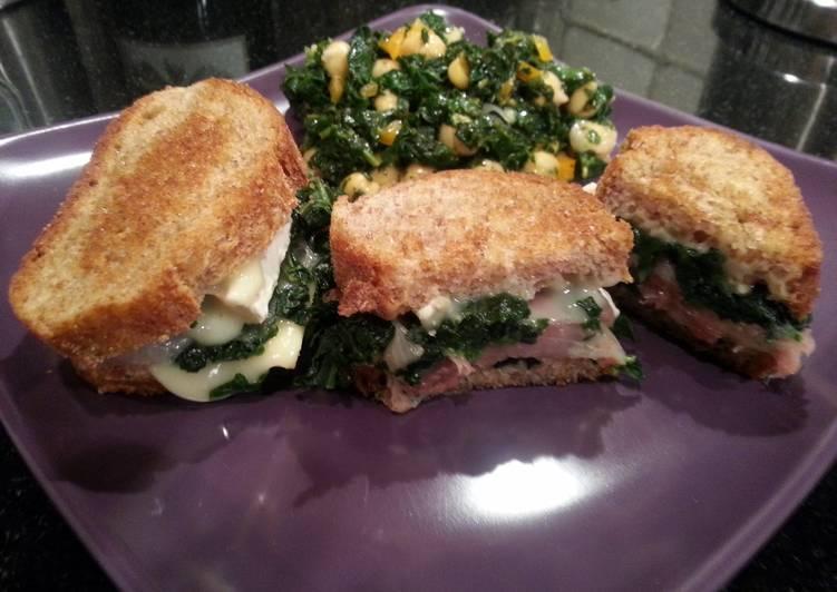 Healthy Grilled Brie Spinach Prosciutto Sandwich