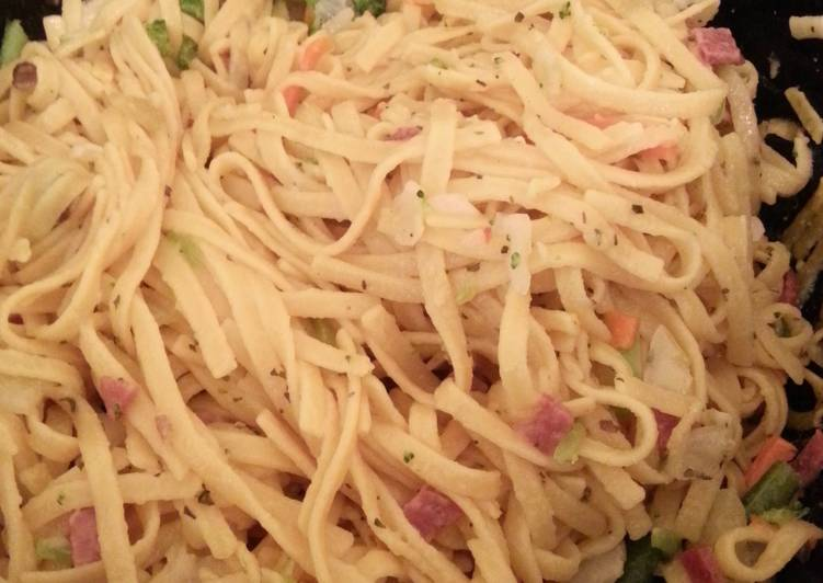 Fry Salami Noodles, Helping Your Heart with Food
