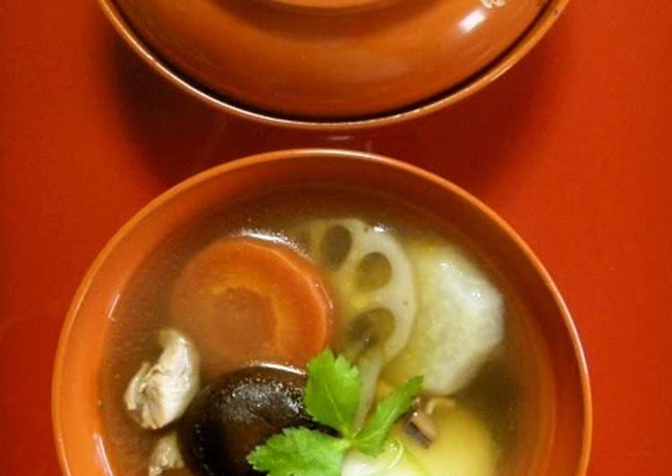 10 Minute How to Make Autumn Our Family's Zouni - Regional Recipe from Yame, Fukuoka
