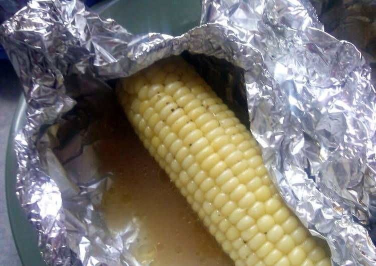 Beer corn on the cobb