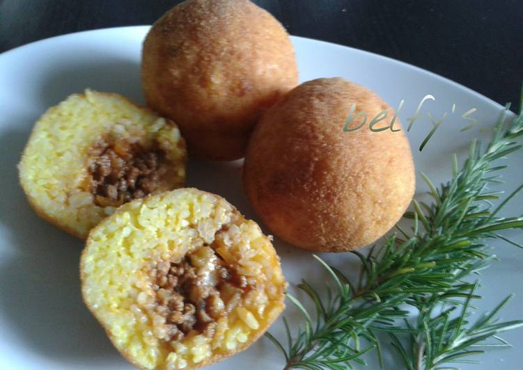 Recipe: Yummy Easy Rice Croquettes (Arancini)