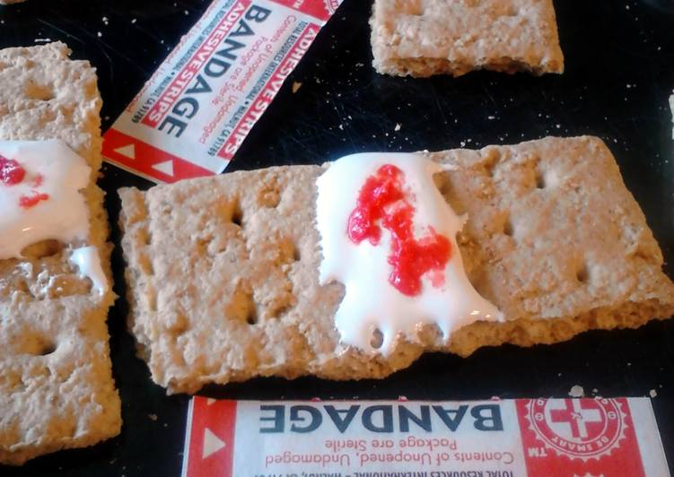 Bloody Bandaid Snack/Appetizer ~ halloween