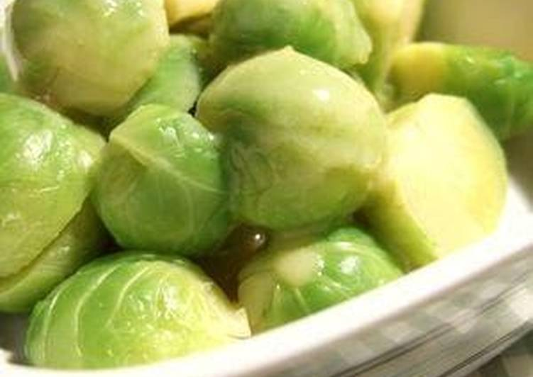 Brussels Sprouts in Yuzu Citrus Miso - Laurie G Edwards