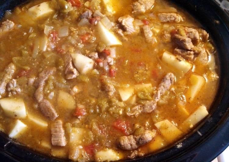 Crockpot Pork Loin Green Chili Recipe By Jason Klein 397 Cookpad
