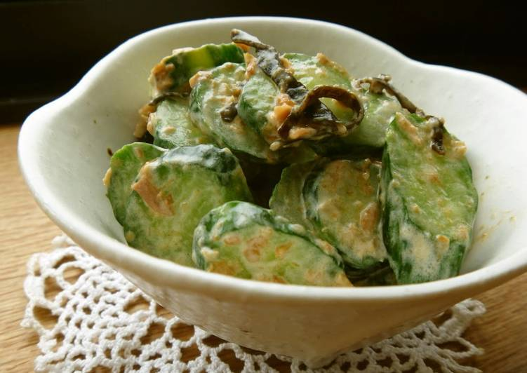 How to Prepare Perfect Cucumber with Umeboshi, Dried Bonito Flakes, and Kombu Mayo