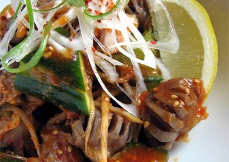 Recipe of Ultimate Chicken Gizzards with Cucumber (Namul-style)