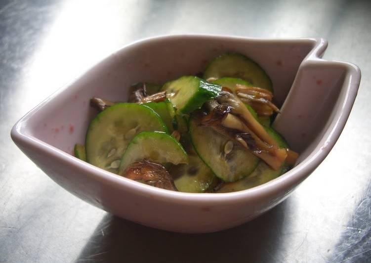 Recipe of Award-winning Easy 5-Minute Maitake and Cucumber Side Dish