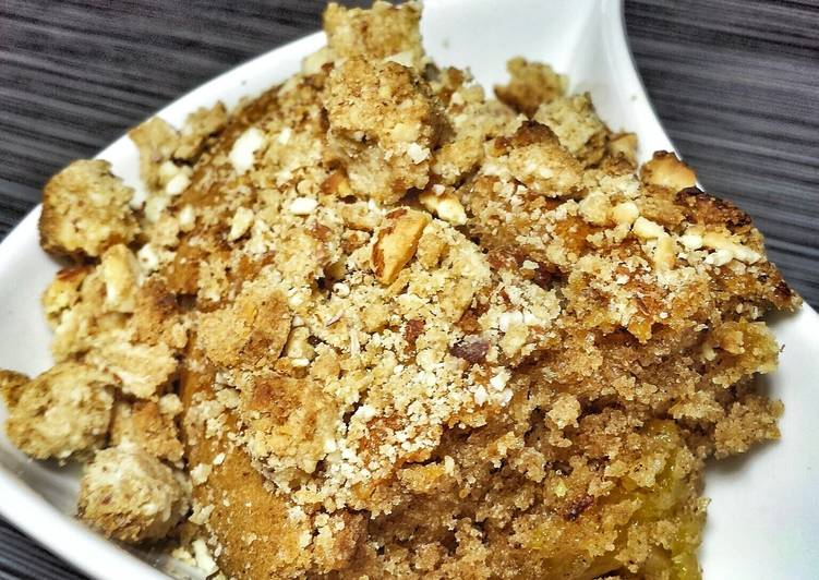 Mango Apple Peach Crumble Cake with Almond Crumble Crust